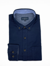 Antrim Stretch Oxford Shirt in Navy