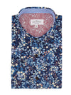 Edinburgh Short Sleeve Shirt in Navy