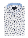 Inverness Short Sleeve Shirt in White and Navy