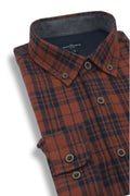 Dundrum Flannel Shirt in Orange