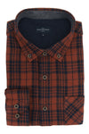 Dundrum Flannel Shirt in Chestnut