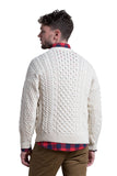 Merino Wool Crewneck Sweater in Natural