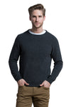 Crewneck Cashmere Blend Sweater in Dark Grey