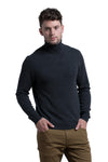 Turtleneck Cashmere Blend Sweater in Charcoal