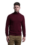 Turtleneck Cashmere Blend Sweater in Merlot
