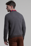 Houndstooth Crewneck Sweater in Granite / Mocha