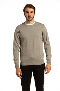 Donegal Cotton Sweater in Slate Grey
