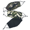 Essential Face Mask 3-Pack Green Camo
