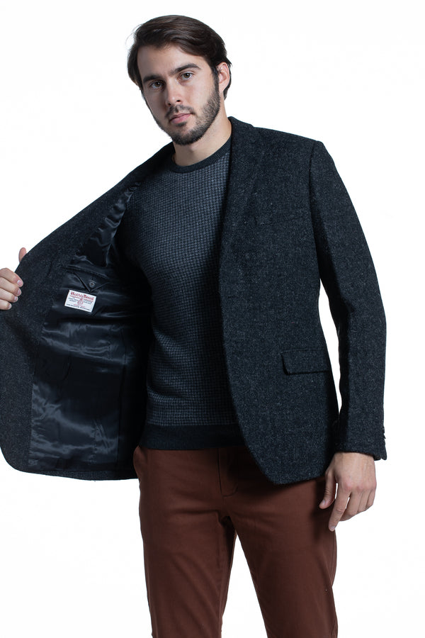 Charcoal Harris Tweed Blazer