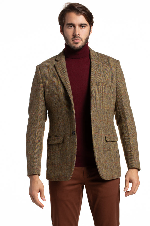 Tartan Herringbone Harris Tweed Blazer