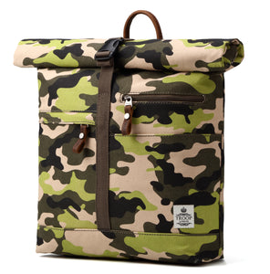 Troop London Urban Canvas Leather Backpack with Foldable Top