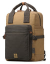 Troop London Heritage Canvas Leather Laptop Backpack