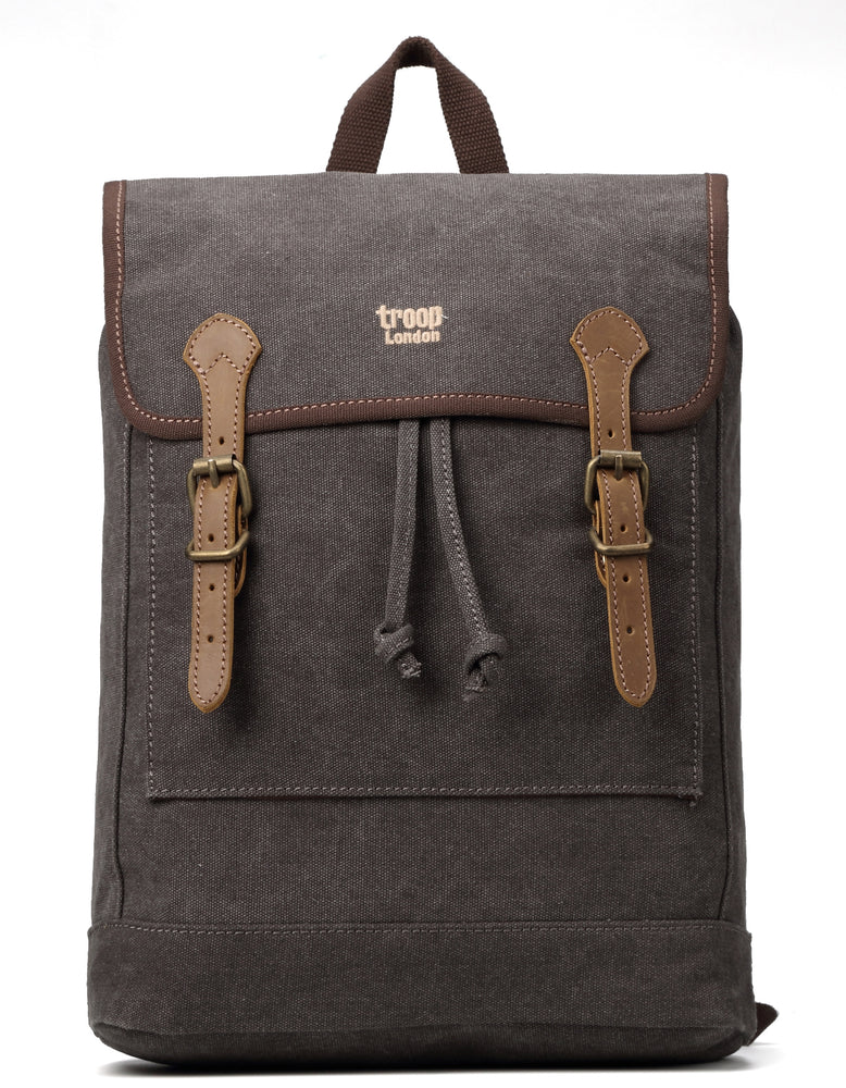 Troop London Heritage Canvas Leather Backpack