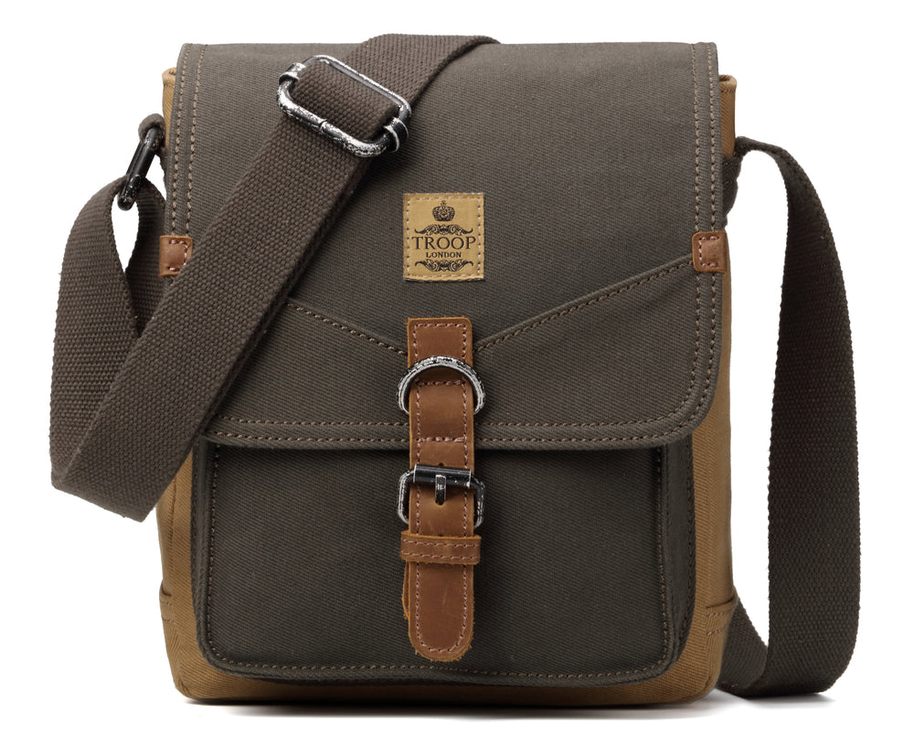 6071bc6c7 Troop London Heritage Canvas Leather Shoulder Bag – Rue Saint-Patrick