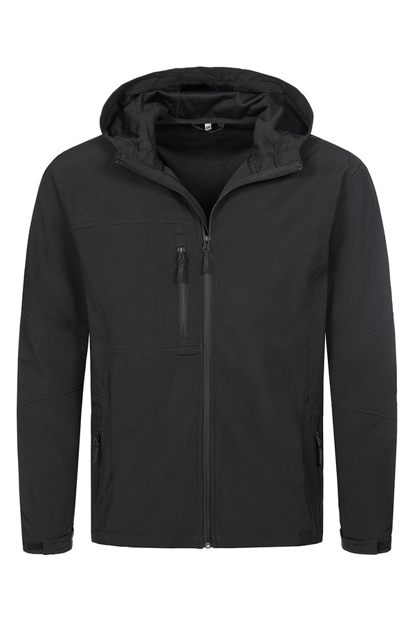 Active Softest Shell Hooded Jacket in Black