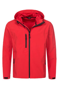Active Softest Shell Hooded Jacket - Crimson Red