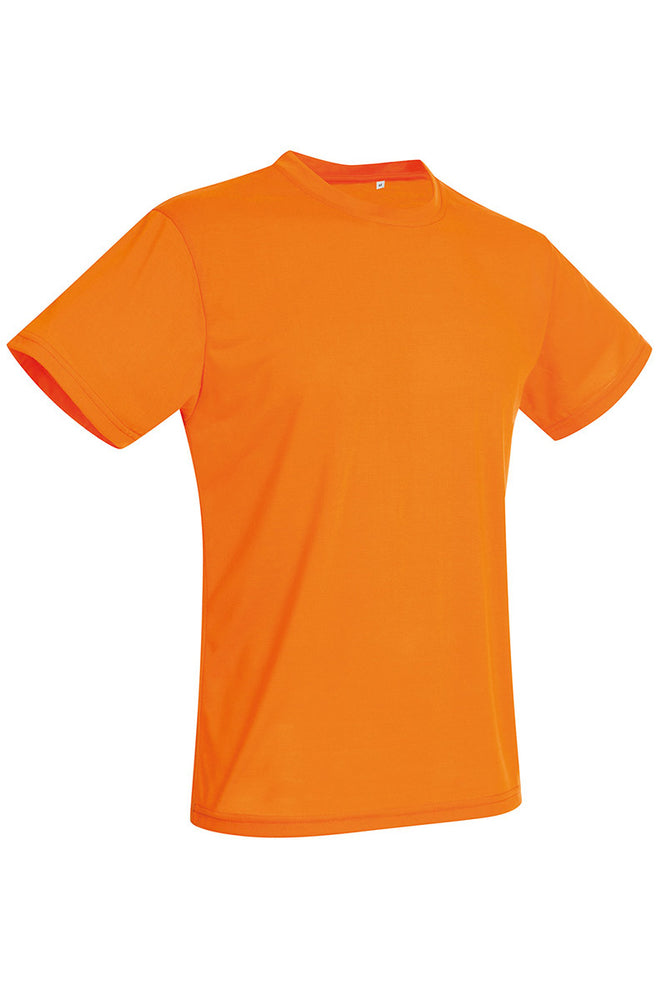Active-Dry Crewneck T-shirt - Orange