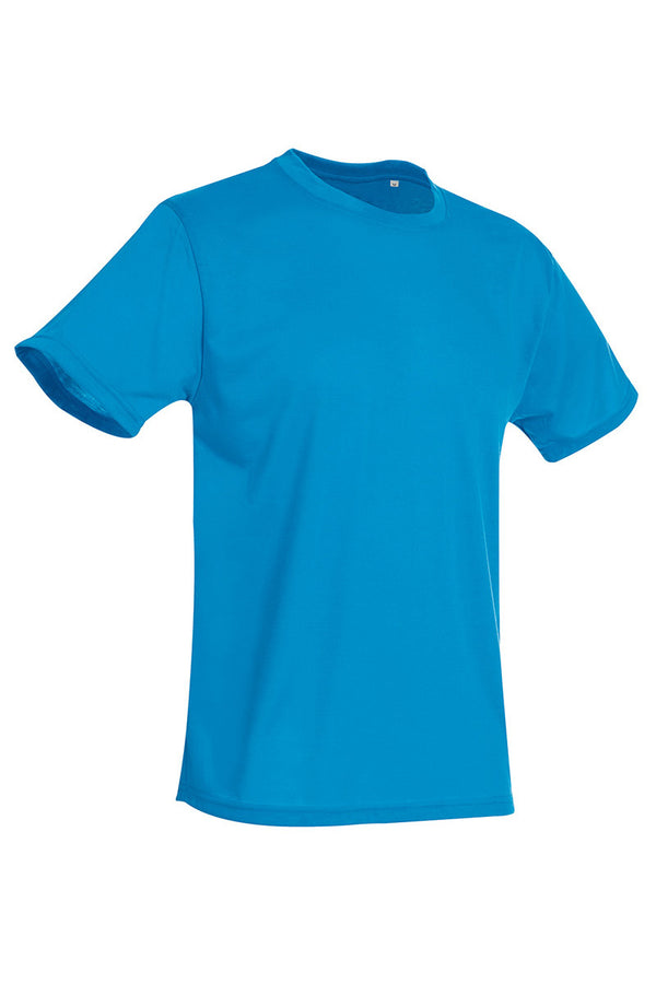 Active-Dry Crewneck T-shirt - Hawaii Blue