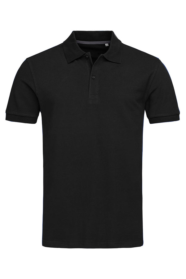 True Pique Polo Shirt - Black