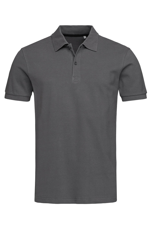 True Pique Polo Shirt - Slate Grey