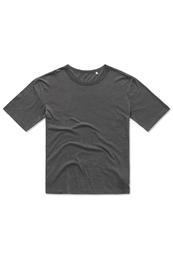 Organic Cotton Slub yarn Slate T-shirt - Grey