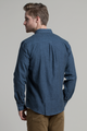 Dromore Twill Flannel shirt in Blue and Black