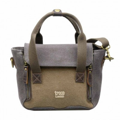 Troop London Heritage Canvas Across Body Bag with Top Carry Handle