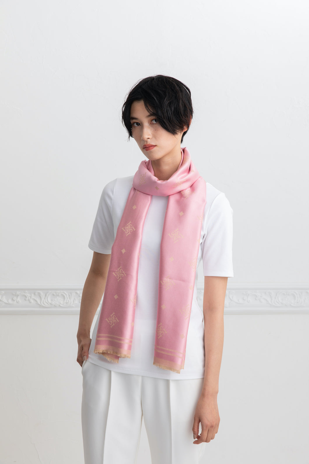Silk stole 190ST light pink