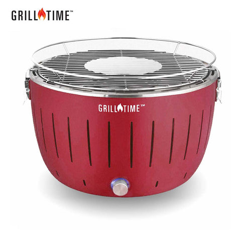 charcoal grill TAILGATER GT (REGULAR) - STARTER PACK - GRILLTIME LLC: Home of The Ultimate Portable Charcoal Grill - Red
