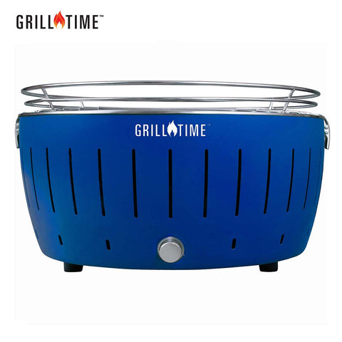 charcoal grill TAILGATER GTX (XL) -STARTER PACK- GRILLTIME LLC: Home of The Ultimate Portable Charcoal Grill - Blue