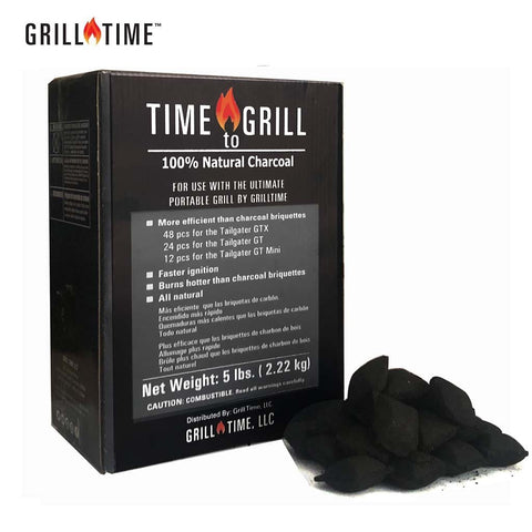 GrillTime The Ultimate Portable Barbecue Grill-Time to Grill 100% coconut natural charcoal