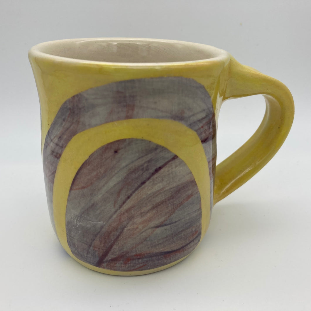 Mug with Shape Play Motif | Yellow & Purple | 8 oz