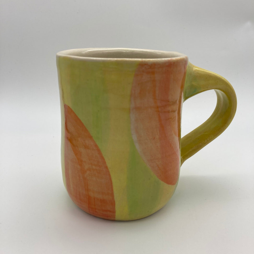 Mug with Shape Play Motif | Yellow & Pink | 10 oz