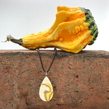 "Load image into Gallery viewer, Hand Carved Harvest Pendant | 18"" Cord 