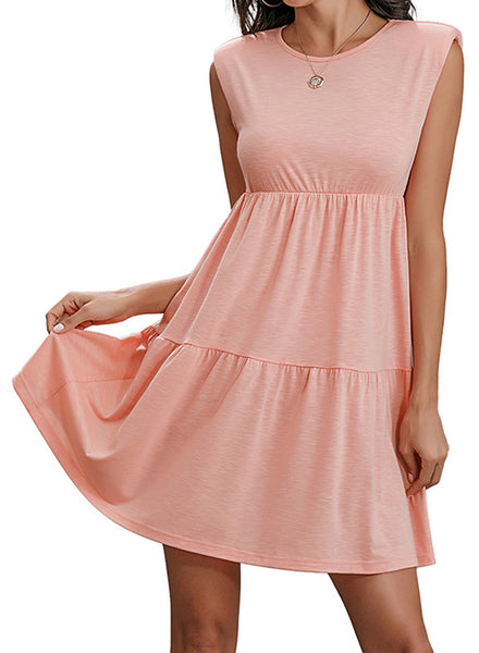 Women's Sleeveless A-Line Pleated Mini Dress
