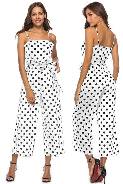 Women's Summer Sexy Spaghetti Strap Sleeveless Long Pants Casual Jumpsuit Rompers