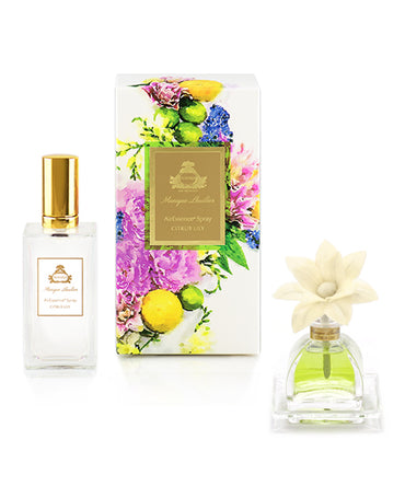 Monique Lhuillier Citrus Lily PetiteEssence Diffuser and AirEssence Spray Duo