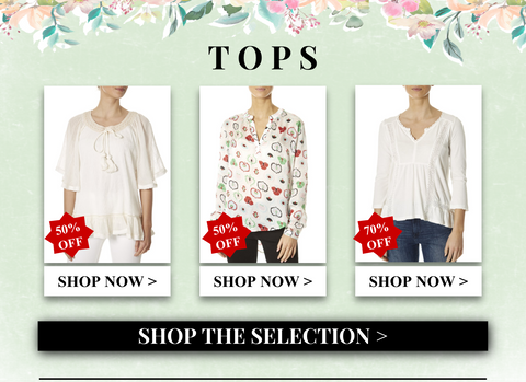 tops up to 70% off