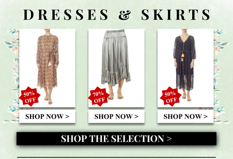 dresses and skirts up to 70% off