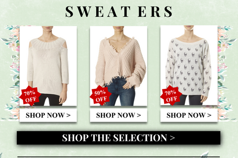 sweaters up to 70% off