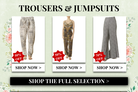 shop trousers and jumpsuits
