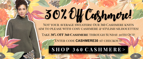 30% off cashmere