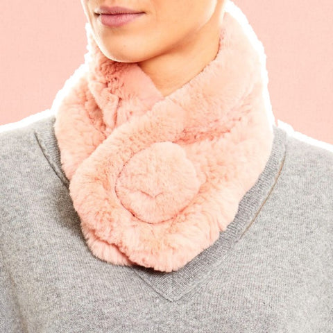 pink bobble scarf