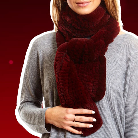 red open scarf