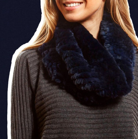 navy snood scarf