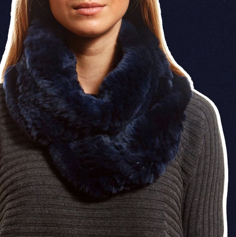 navy snood