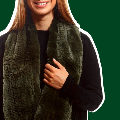 green snood scarf