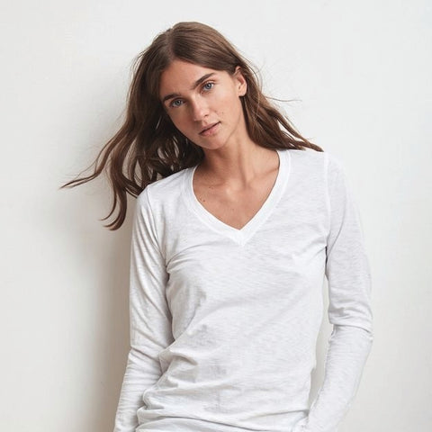 Velvet By Graham and Spencer White Long Sleeve