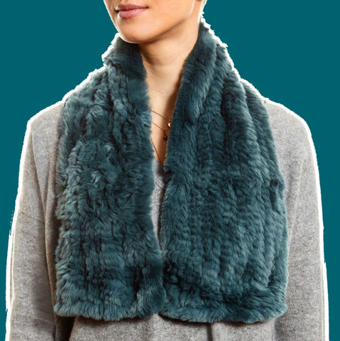 teal loop scarf