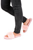 Pink Shallow Sheepskin Slipper Slides | Jessimara London